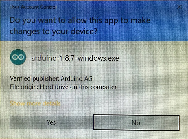 Arduino IDE Install Permission