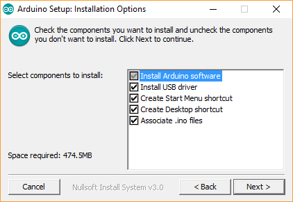 Arduino IDE Installation Options
