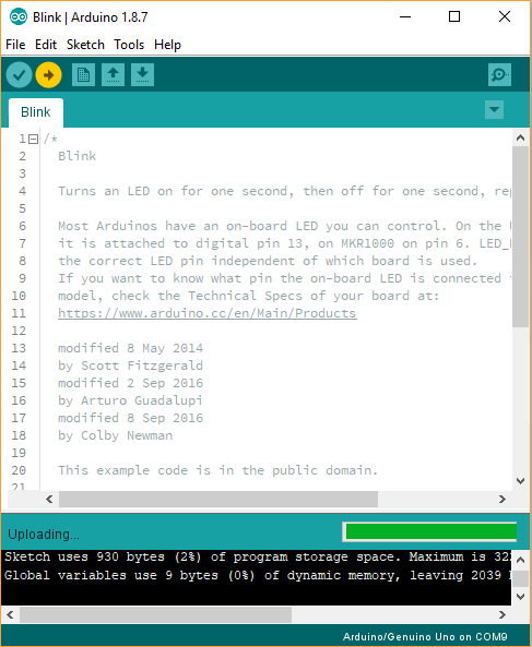 Arduino Uploading