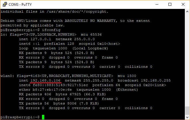 Alamat IP Raspberry Pi