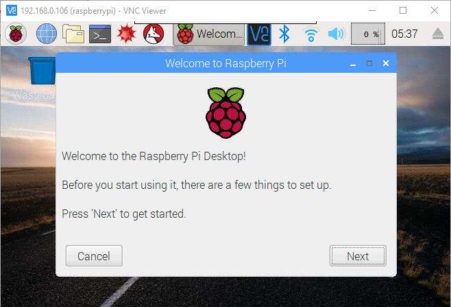Remote Raspberry Pi VNC