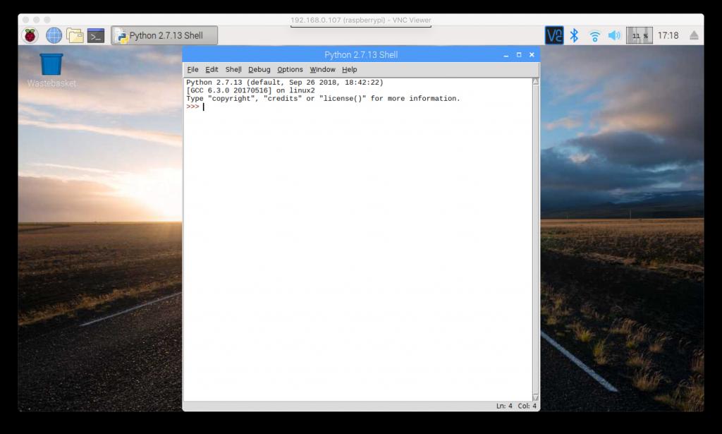 Perisian Python 2 (Shell)