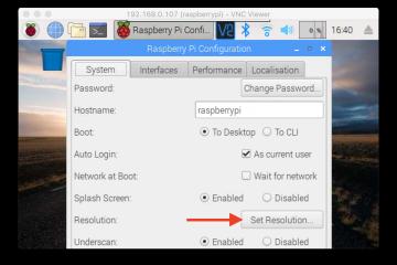 Tetapkan Resolusi Desktop Raspbian