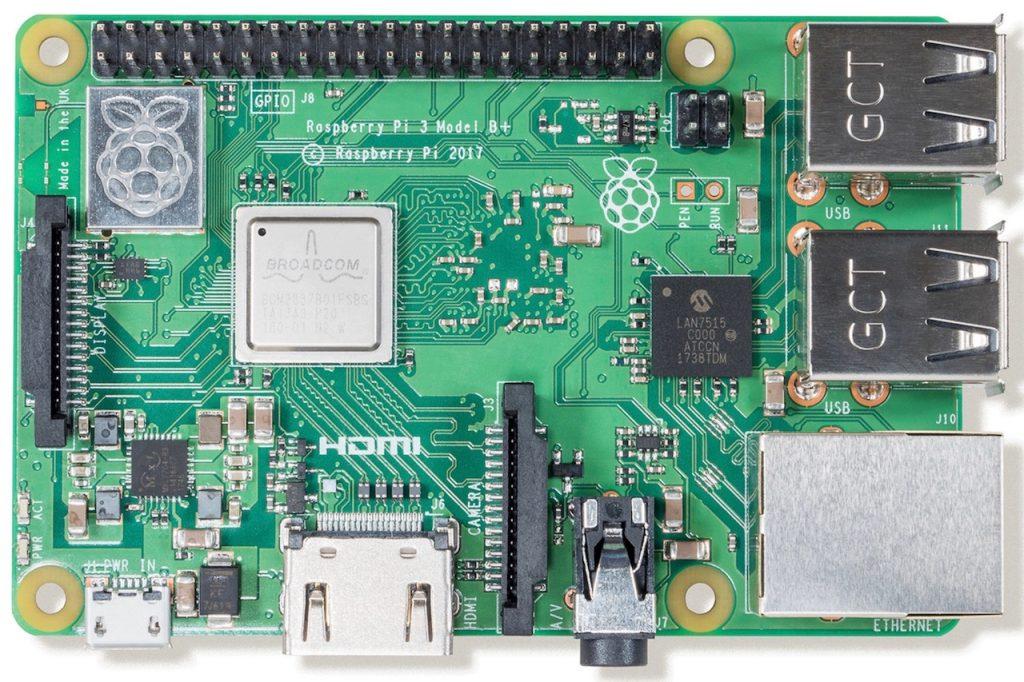 Raspberry Pi 3 Model B Plus Top