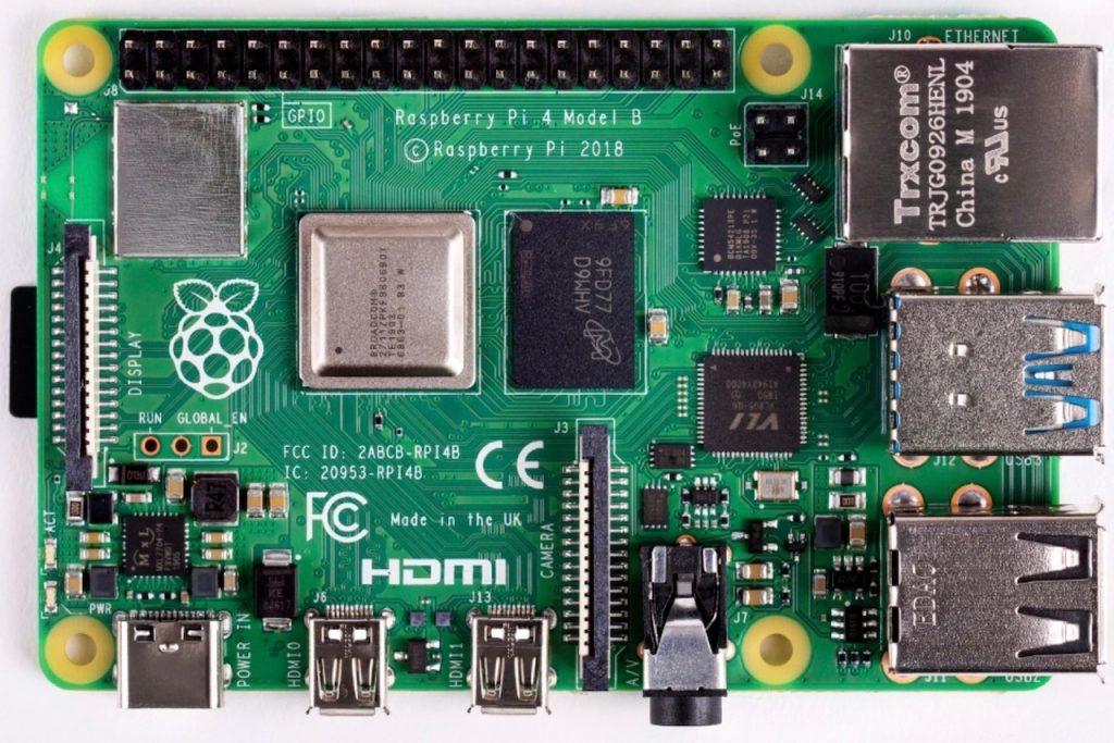 Raspberry Pi 4 Model B Top
